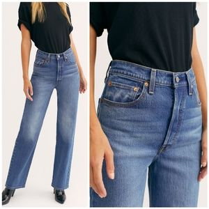 Levi's Ribcage Straight Leg Full Length Jeans